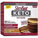 SlimFast Keto Fat Bomb Snacks, Peanut Butter Cup, 17 Grams, 14 Pack Box