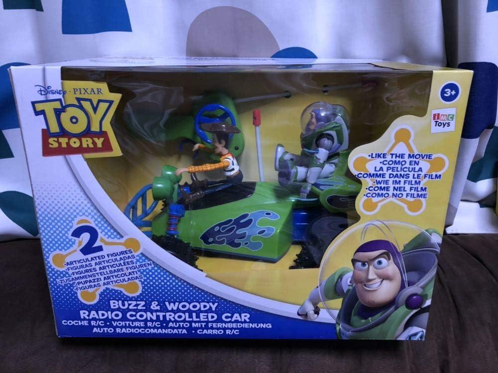 トイストーリー RCのラジコン バズ&ウッディ フィギュア付 Buzz & Woody Radio Controlled Car