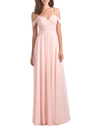 e76d8b413e4e Off The Shoulder Chiffon Bridesmaid Dress for Women Formal Evening Party Prom  Dress Long J46 (