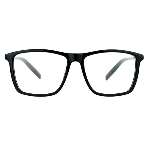cdb13f4db52 Image Unavailable. Image not available for. Color  SA106 Black Large Thin  Plastic Horn Rim Clear Lens Eye Glasses Frame