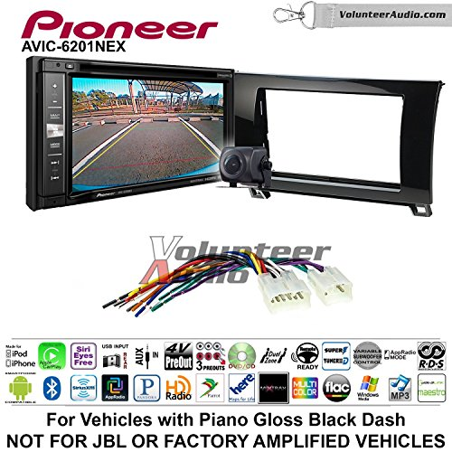 Pioneeer AVIC-6201NEX Double Din Radio Install Kit with GPS Navigation Apple CarPlay Android Auto Fits 2007-2013 Non Amplified Toyota Tundra, 2008-2013 Sequoia (Metallic Gray) by Pioneeer Volunteer Audio (Image #7)