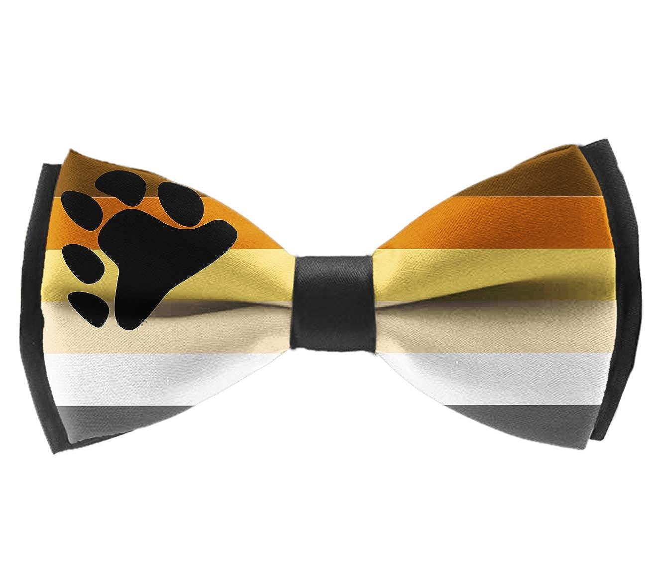Classic Men Pre-tied Bow Tie Adjustable Bowtie Gift Leopard Prints Printed