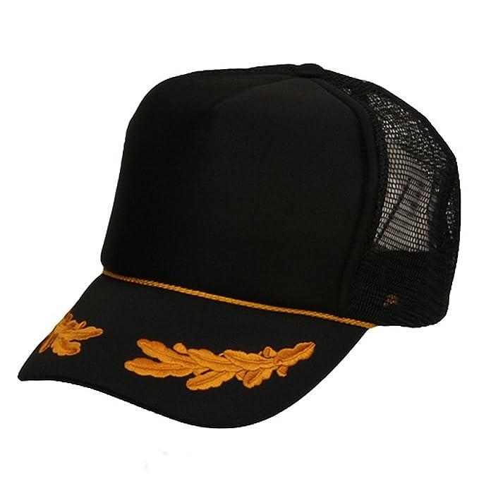 Oak Leaves Foam Mesh Cap-Black Gold at Amazon Men s Clothing store   Baseball Caps cf1ae78a9