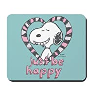 CafePress - Snoopy Just Be Happy Full Bleed - Non-Slip Rubber Mousepad, Gaming Mouse Pad