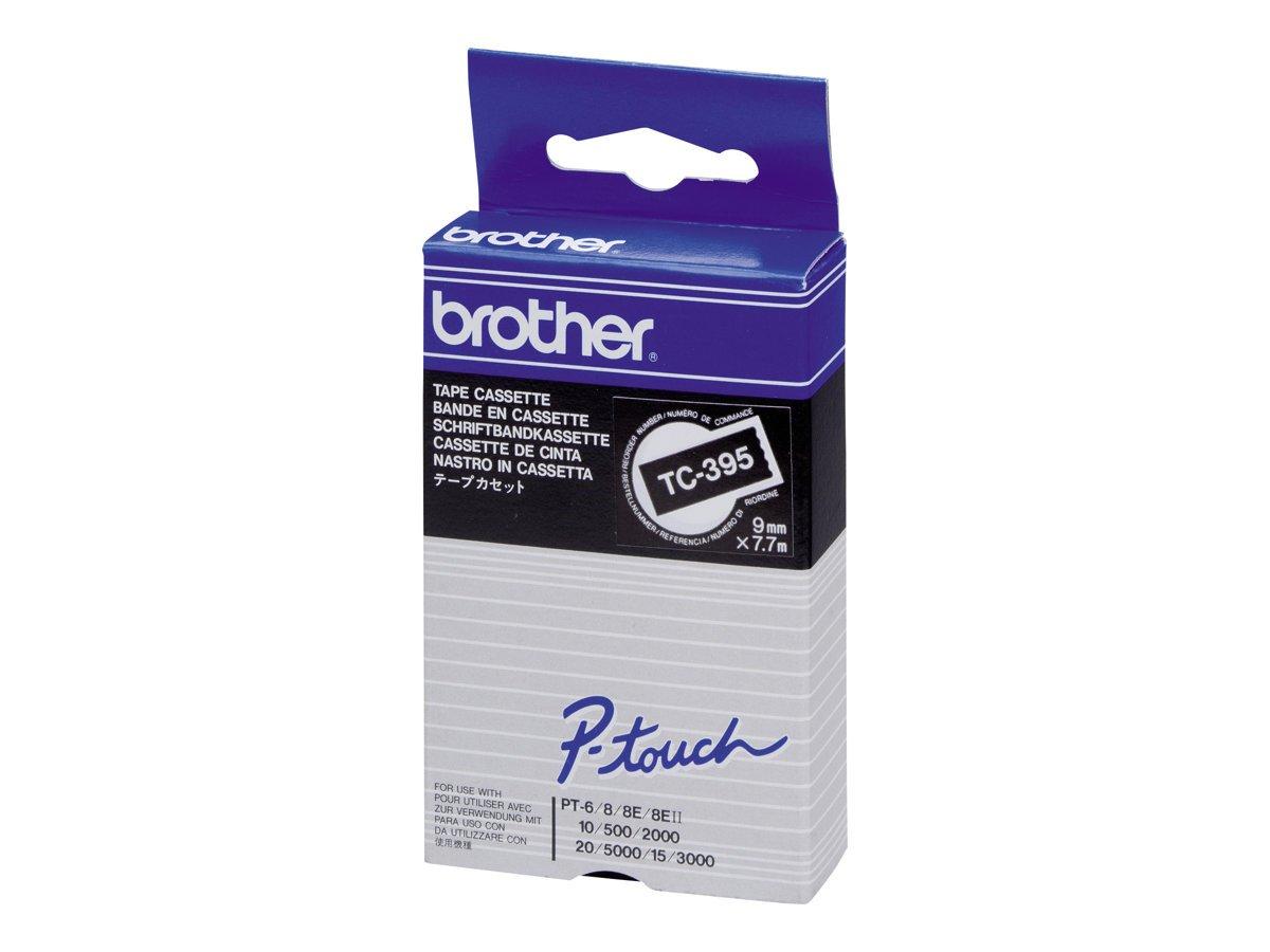 Brother TC291 Nastro per Etichettatura 9 mm Blu su Bianco