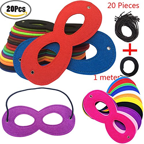Superhero Masks Party Eye Masks Kid's Cosplay Masks Party Favors Half Mask