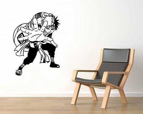Amazon.com: Gaara Vinyl Wall Decals Sand Ninja Pumpkin Anime ...