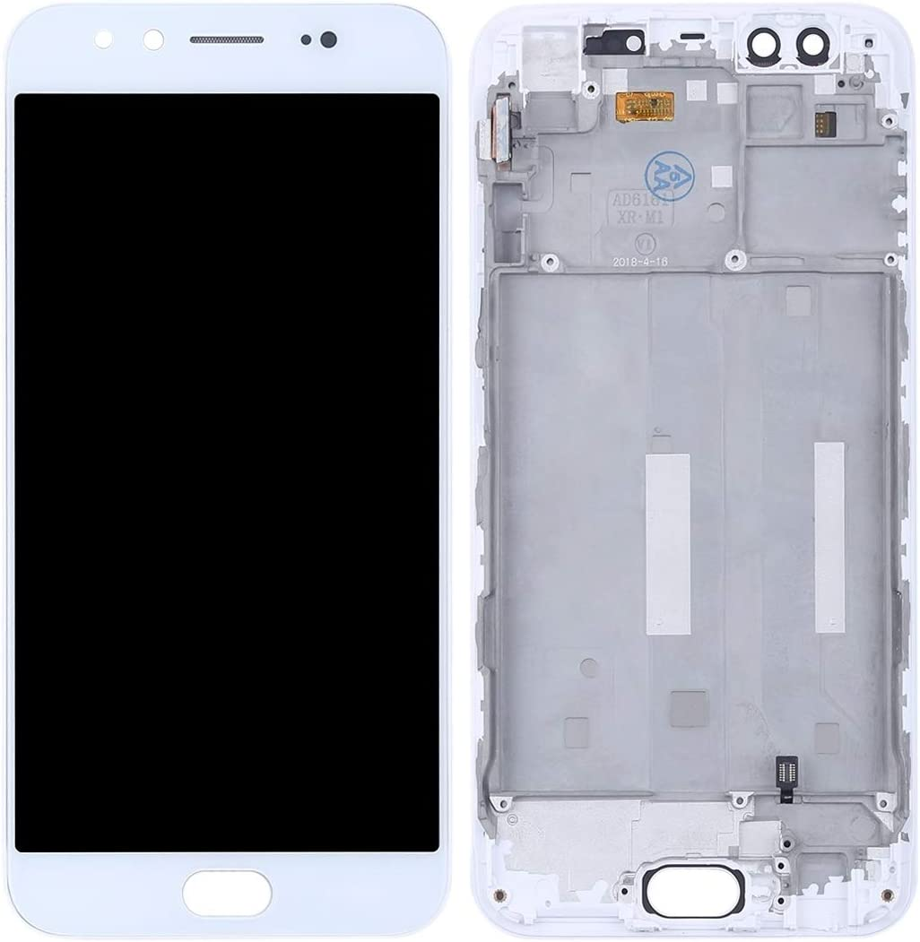 Color : White Happyshopping Digital Mobile Phone Replacement//Replace LCD Screen White Touch Screen TFT Materials LCD Screen and Digitizer Full Assembly with Frame for Vivo X9