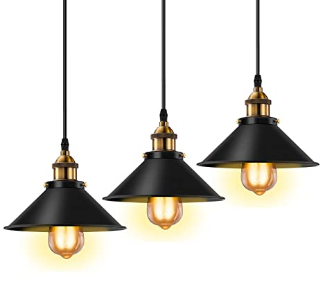 Retro pendant lighting fixtures Industrial Ceiling Lighting Image Unavailable Amazoncom Licperron Industrial Pendant Light E26 E27 Base Vintage Hanging
