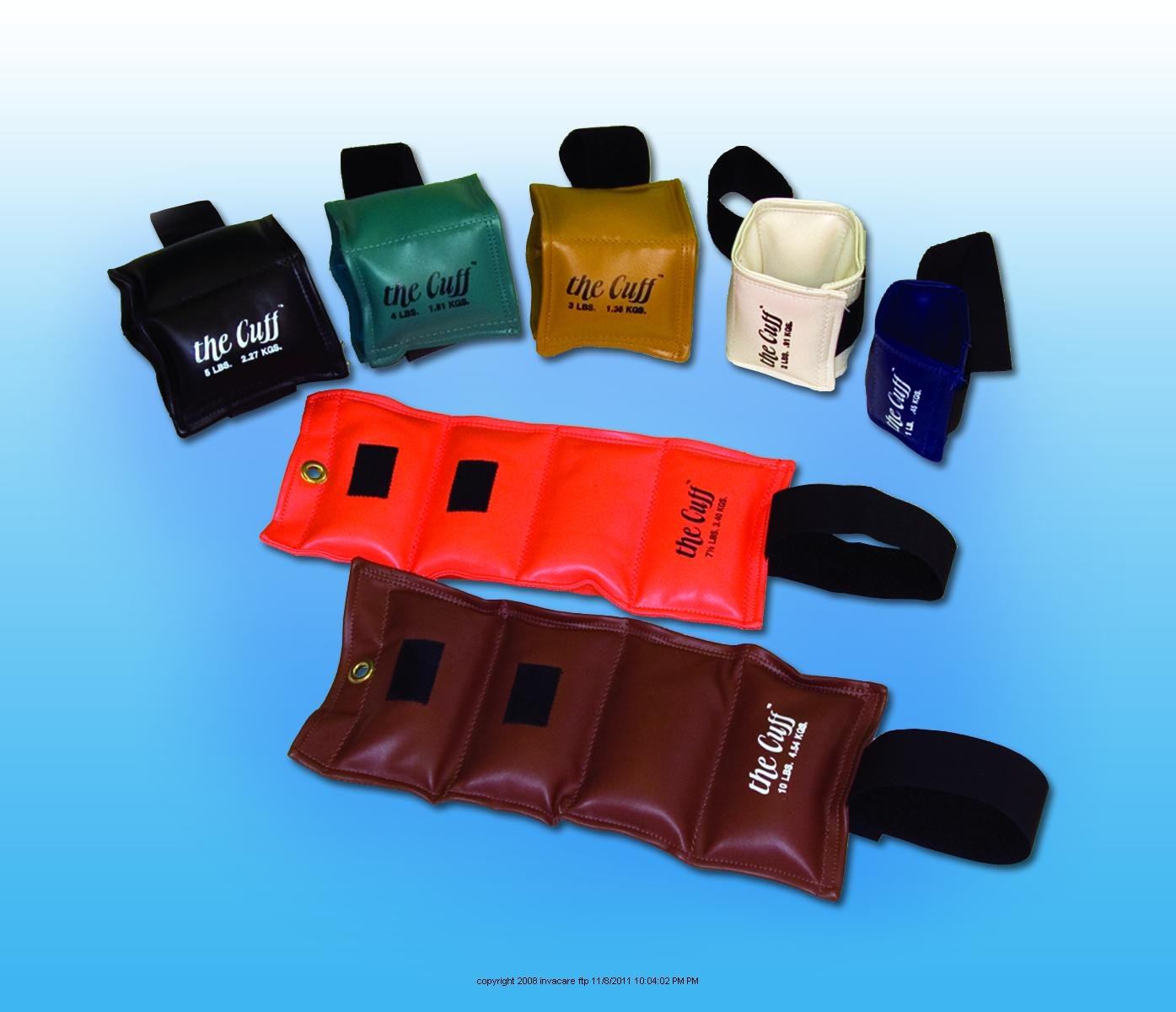 The Cuff Wrist/Ankle Weights, Wrist Ankle Weight 2Lb, (1 EACH, 1 EACH) FABRICATION ENTERPRISES