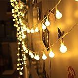 Innoo Tech Guirnalda Luces 10M 100 LED Bombillas Blanco Cálido Decoración de Navidad, Patio, Boda, Dormitorio, Fiesta de Cumpleaños,Reunión entre Familiares y Amigos (Enchufe Vesión Europea)