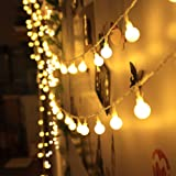 Innoo Tech Catena Luminosa con Spine Femmine e Maschi 12M 100 Led Luci Stringa Led Luci Decorative Bianco Caldo Luci Natalizie Per Natale, Anno Nuovo, Matrimonio, Bar, Caffè, Piscina, Casa, Esterno ed Interno Trasformatore DC 31V
