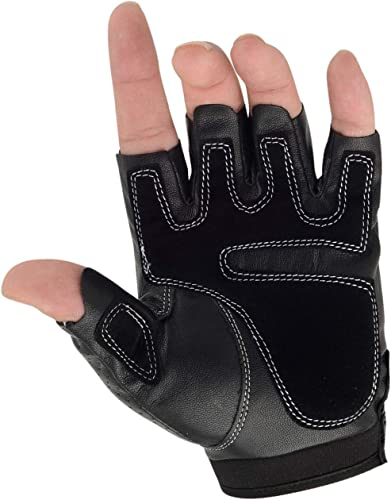 Fingerless~Gloves~Half Gloves~Soft~Leather~Driving~Gloves~Nice~Size M  L~Mens~Harley~Rider~Motorcycle~Accessorie~Half Gloves~FREE SHIPPING