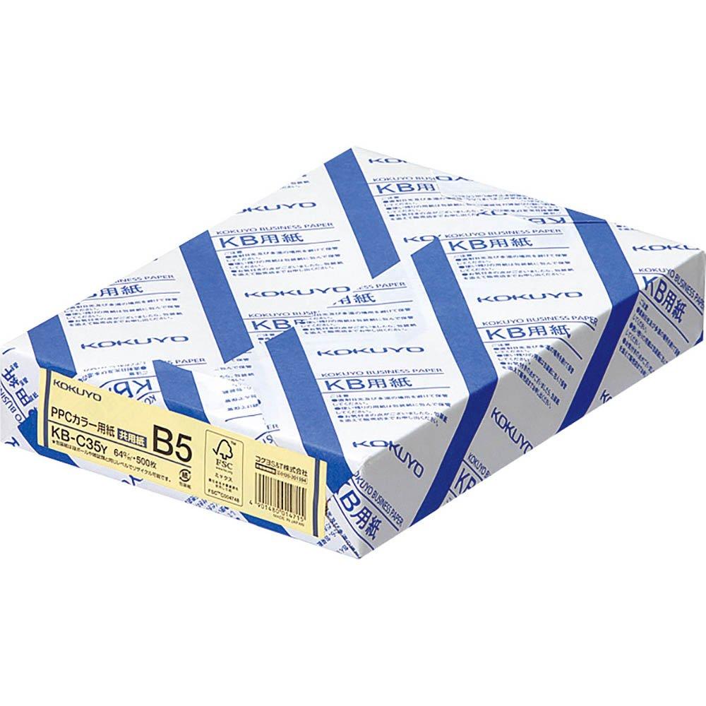 Kokuyo PPC Farbpapier sowohl FSC-zertifiziertem Papier gelb B5 500 Blatt KB-C35Y (Japan-Import) B0006L01BG | Stil