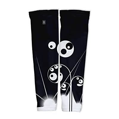 Black Swirls Compression Arm Sleeves UV Protection Unisex - Walking - Cycling - Running - Golf - Baseball - Basketball