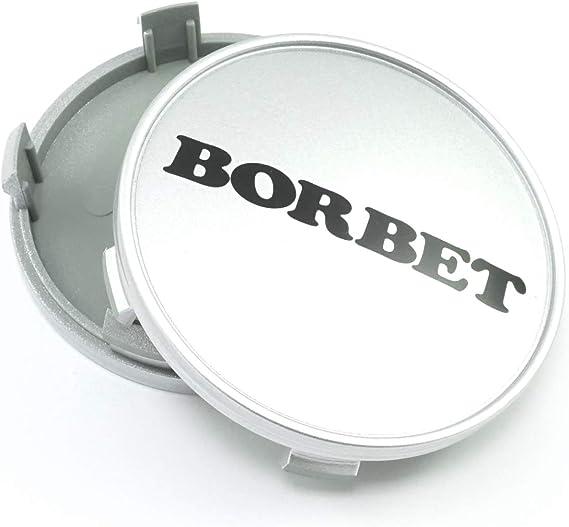 1x Borbet Nabendeckel Felgendeckel Nabenkappe 68 4mm Für Borbet Xr Y Silber Lk 5x120 Auto