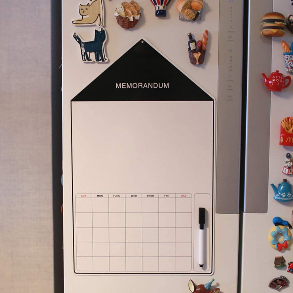 bureau Tableau blanc aimant/é pour cuisine planificateur de repas quotidien Noir m/émo Tableau blanc magn/étique pour r/éfrig/érateur avec marqueur et stylo grand format A3