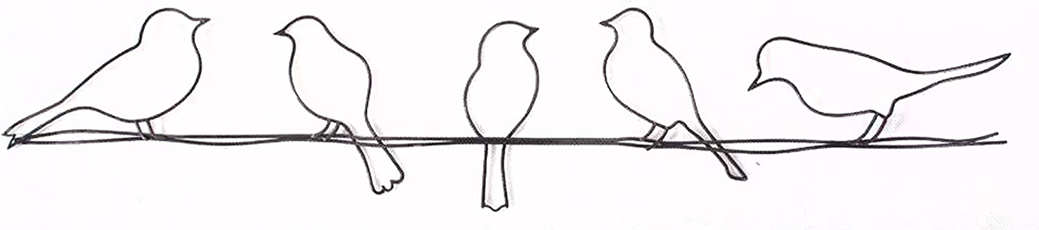 Graham & Brown 41-221 Bird on a Wire Metal Wall Art