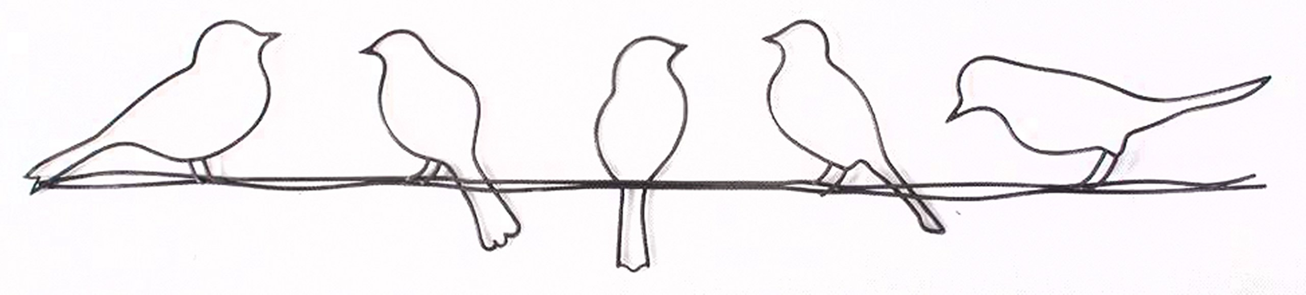 Graham & Brown 41-221 Bird on a Wire Metal Wall Art by Graham & Brown