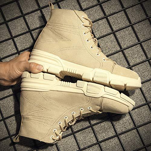 Shukun Herren Stiefel Herbst Martin Stiefel Stiefel Stiefel Herren Arbeitskleidung zu helfen Wilde Kurze Stiefel hohe Schuhe Männer 75d896