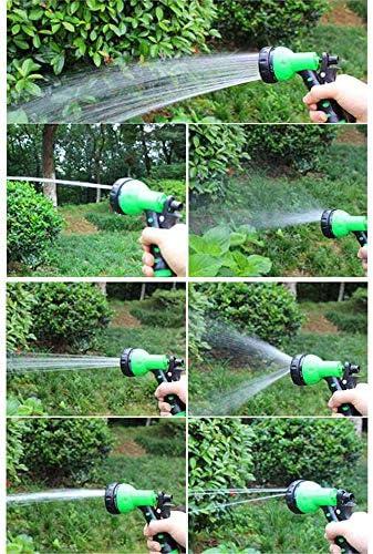 ZMHS 25, 50, 100 Feet Garden Hose, EVA Recoil Garden Hose with 6-pattern Spray Nozzle, Watering Hose Coil, Retractable, Corrosion Resistant Garden Coil Hose,25 Ft