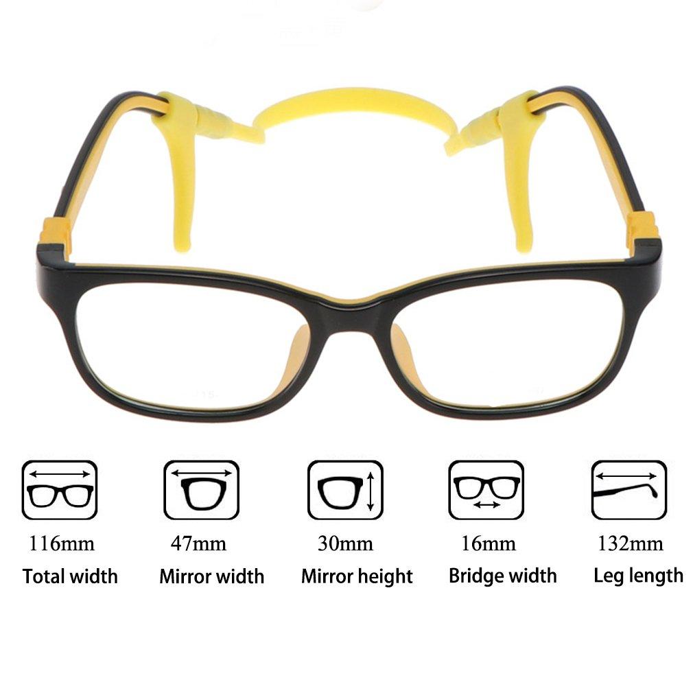 e9af84487646a ... Juleya Kinder Gläser Rahmen - TR90 + Silikon - Kinder Brillen Clear  Lens Retro Reading Eyewear ...