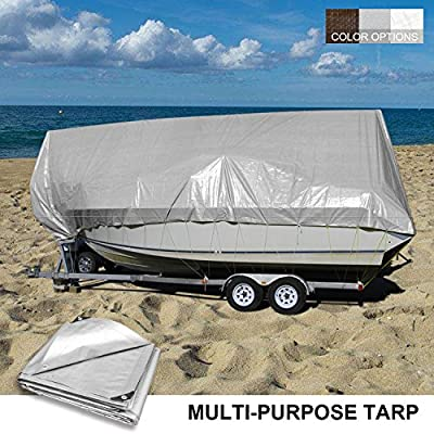 Coarbor 16/'x20/' Waterproof Tarp Poly Heavy Duty 10 Mil Multi-Purpose Protect Outdoor Property Furniture Grill Wood Pie Trunk Cover White