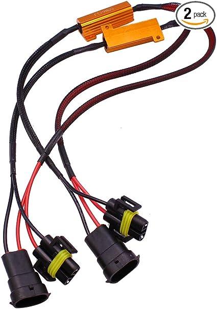 2 Pieces H8 H9 H11 50W 6Ohm LED Load Resistors Error Free Anti Flicker