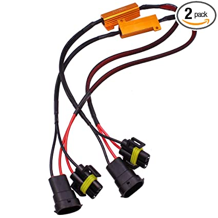 Amazon Com Huiqiaods H11 H8 H9 880 881 Wire Harness Kit 50w 6ohm