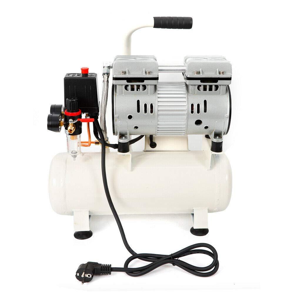 SENDERPICK 9L Oil-Free Air Compressor Whisper Silent Compressor Low Noise 57dB 50L//min 8 Bar 680W