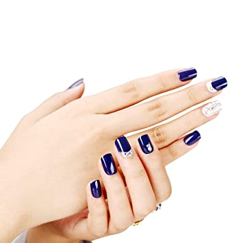 perfect color 30 Sheet Fake Nails Kit for Girls     - Amazon com