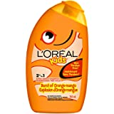 L'Oreal Paris Kids Shampoo and Conditioner, Orange Mango, 2 in 1, Paraben Free, Extra Gentle, Dermatologist Tested, Tear-Free