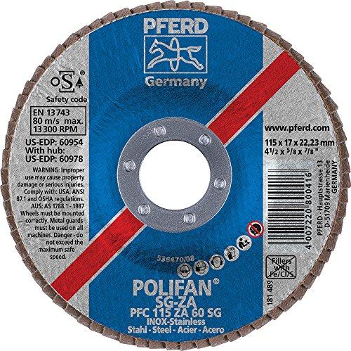4-1//2 Diameter 7//8 Arbor Hole 4-1//2 Diameter 7//8 Arbor Hole PFERD Inc. 220 Grit Pack of 25 PFERD 40055 Fibre Disc 13300 RPM Aluminum Oxide A-Cool
