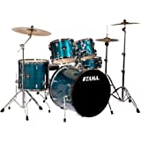 """Tama IP52KCHLB Imperialstar 5-Piece Complete Drum Kit with 22"""" Bass Drum & Hardware, Cymbals - Hairline Blue"""