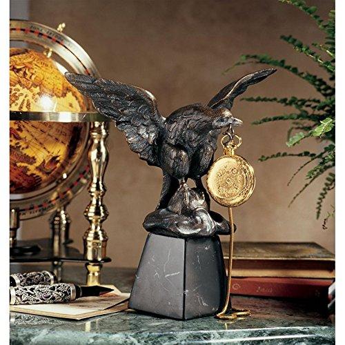 Gold Eagle Pocket Watch - Design Toscano Eagle's Treasure Sculptural Pocket Watch Display
