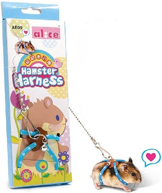 BulzEU Arnés de hámster de Rata de Animales pequeños y Correa para ...