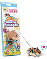 Adjustable Nylon Harness Vest and Leash Set Lead for Pet Dwarf Hamster Gerbil Rat Mouse Ferret Chinchilla Ferret Squirrel Small Animal Walking Toy