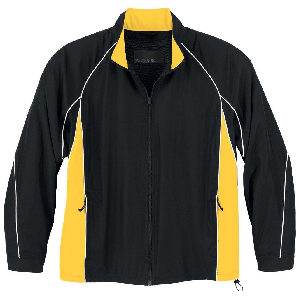 アッシュシティメンズWoven Twillアスレチックジャケット B00GVL37SY ブラック/ゴールド/ホワイト Large