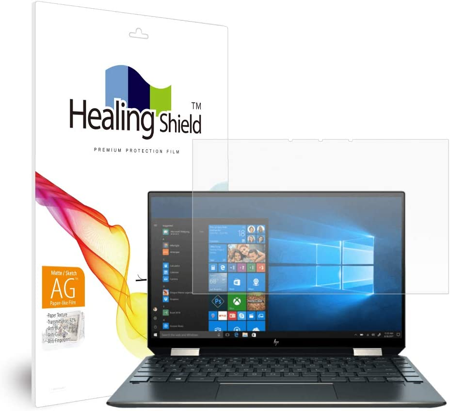 Healingshield Screen Protector Paper-Like Eye Protection Anti Blue Ray Anti Glare Paper Texture Film Compatible with HP Spectre X360 13-aw0213TU PHAA1408_Laptop