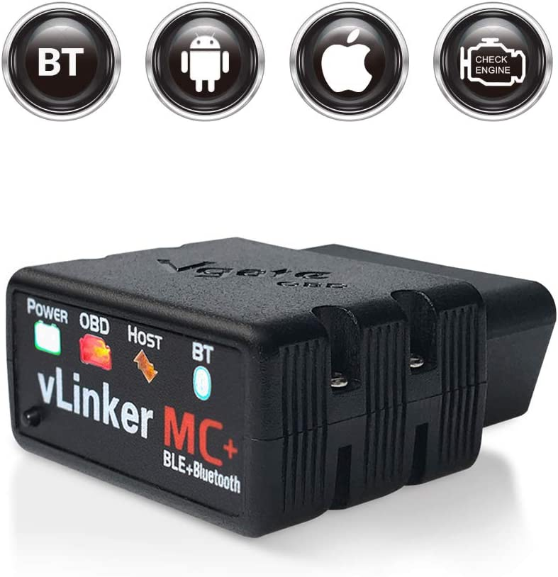 TONWON Vgate vLinker MC Bluetooth 4.0 OBDII Bluetooth Esc/áner de diagn/óstico OBD2 para iOS Android y Windows