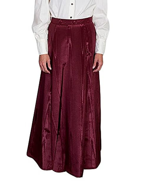 Victorian Clothing, Costumes & 1800s Fashion Scully Vintage Five Gore Walking Skirt - Burgundy $48.50 AT vintagedancer.com