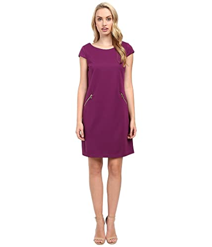 Christin Michaels Womens Sarah Cap Sleeve Shift Dress