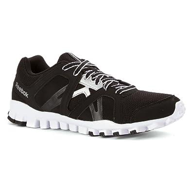 Reebok RealFlex Train RS 2.0 Mens Training Shoe 7.5 Black-White-Silver