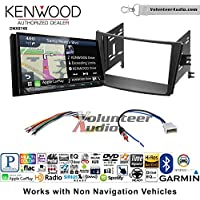 Volunteer Audio Kenwood DNX874S Double Din Radio Install Kit with GPS Navigation Apple CarPlay Android Auto Fits 2010-2014 Subaru Legacy, Outback