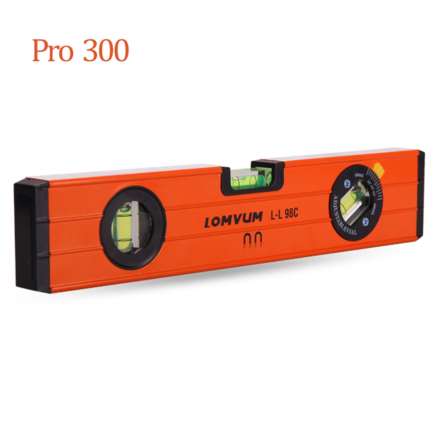 12-Inch Level Aluminum Alloy Magnetic Torpedo Level Plumb/Level/45-Degree Measuring Shock Resistant Spirit Level with Standard and Metric Rulers by Lomvum