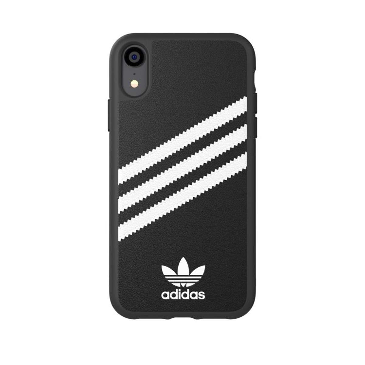 sale retailer a79c2 257a5 Amazon.com  adidas Originals Moulded Case PU for iPhone XR - Black White   Cell Phones   Accessories