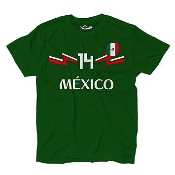 KiarenzaFD Camiseta Camiseta Fútbol Selección Chicharito Mexico Hernandez 14, KTS01918-S-Verde-