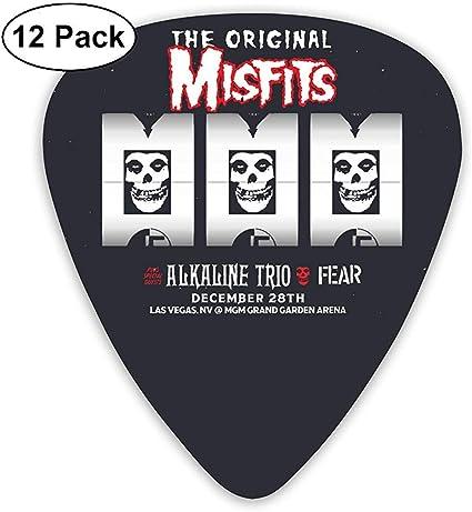 Misfits Púas de guitarra eléctrica (paquete de 12) para guitarra ...