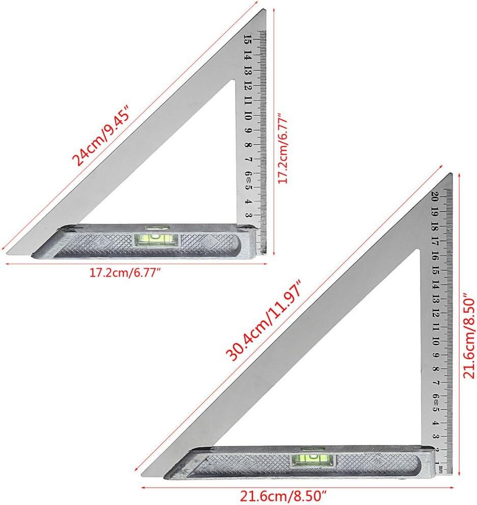Mmnas 150mm Dreieck Lineal 90 /° Legierung Mit Perle Horizontal Holzbearbeitung Messwerkzeug