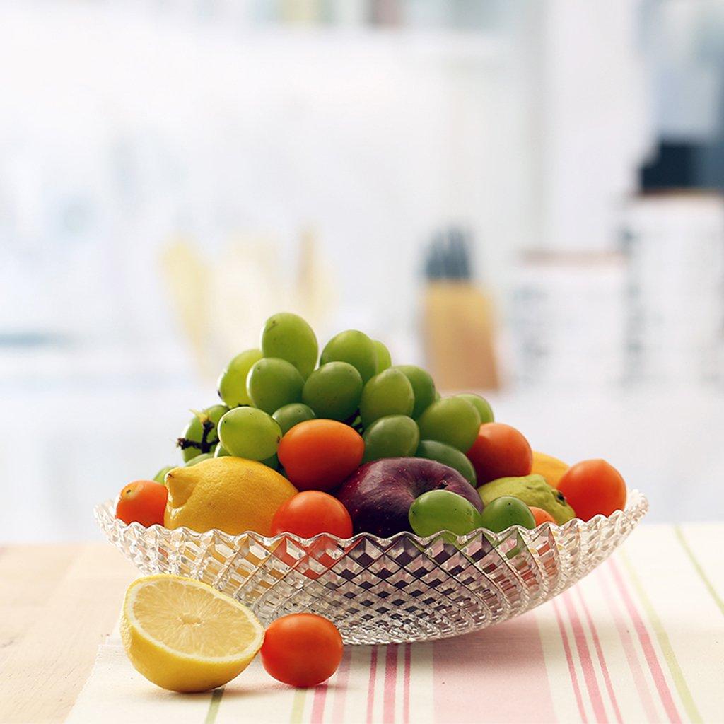 modern European style minimalism glass fruit dish Fruiting coffee table Home Decoration Fruit basket fruit Dried fruit plate large